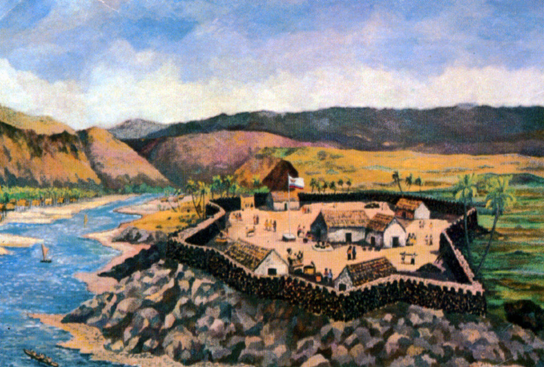 Figure 2. Artistic reconstruction of Fort Elizabeth by Guy Buffet