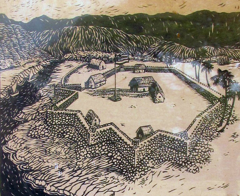 Figure 3. Artistic reconstruction of Fort Elizabeth by an unknown author